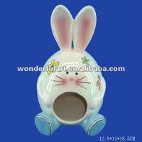 dolomite rabbit shape ceramic bird house