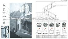 2012 New design stainless steel balustrade for home