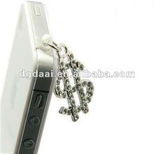 2012 hot sale cell phone anti dust ear cap plug
