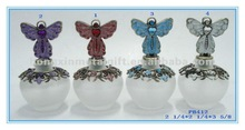 PB412A 35ML Twelve Month Birthday Angel Glass Perfume bottle with Wire Foot for LOVE Gifts