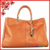 genuine leather big size womam shoulder bag leather lady handbags with pendant