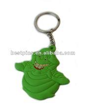 3D logo halloween Ghostbusters Slimer pvc Keychain