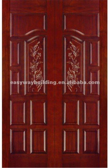 Double door designs joy studio design gallery best design for Double door wooden door