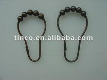 Roller Ball Oil Rubbed Bronze Shower Curtain Hooks