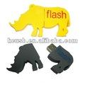 Toro de dibujos animados de memoria usb, usb de rinoceronte