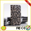 Wholesale price leather leopard case for iphone 5