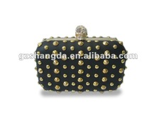 New style, Black studs clutch purse for women