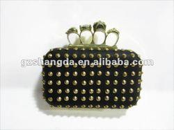New style, Black skull ladies evening purse