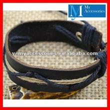 2012 New Design Adjustable Leather Bracelet Wholesale