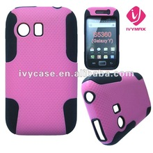 cheap wholesale fancy cell phone case for samsung galaxy y s5360 hybrid phone case