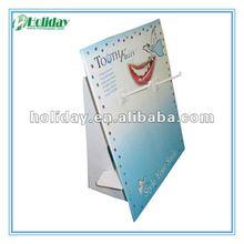 Cardboard sidekick display for toothbrush