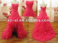 2012 Free Shipping Stylish Sexy Organza Ruffles Evening Dress/Prom Gown SL-9025