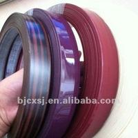 best seller extrusion 2mm wood grain pvc table edging trim