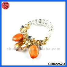 2012 newest style crystal&acrylic design stretch bracelet fashion pictures fashion jewelry