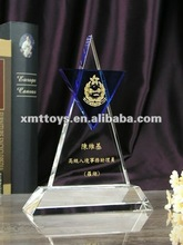 crystal trophy glass for souvenir and corporation display