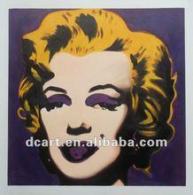 2012 Hot Selling Marilyn Monroe Portrait Oil Painting