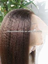 Long beautiful Yaki wave human wig virgin human hair
