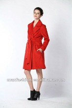 Fashion comfortable red coat wear in 2012