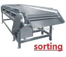 fresh fruit & vegetable conveyor & hoister & spray washing