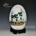 decorativi in ceramica vaso forma di uovo con pittura a mano casa di design