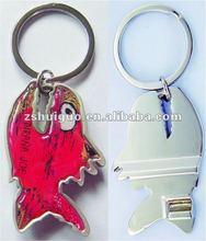 2012 fish shape bottle opener keyring