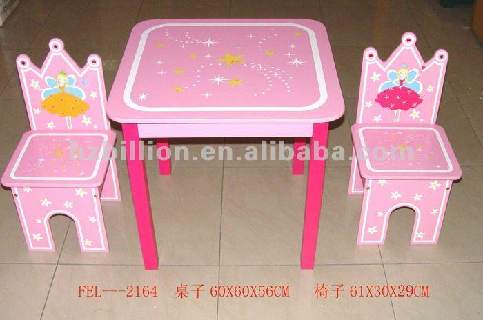 3 12 a os de madera mesa de estudio los ni os con 2 for Mesas y sillas para xv anos