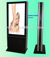 LCD Advertising Monitor Floor Standing Double sides 55 Inch
