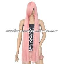 Fantasy World/Pink 1m Long Straight Hair Cosplay Wig