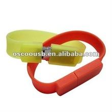 Luminous bracelet usb gadget with custom logos