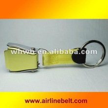 Fashionable Yellow color Airline buckle key chains