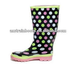 fashion knee high rain boots for women