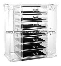 popular acrylic jewelry display box/case with 7drawer