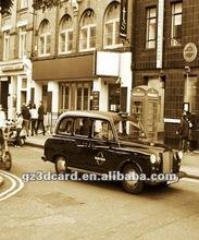 Hot 3d imagem de carros antigos edifício 60 * 80 cm
