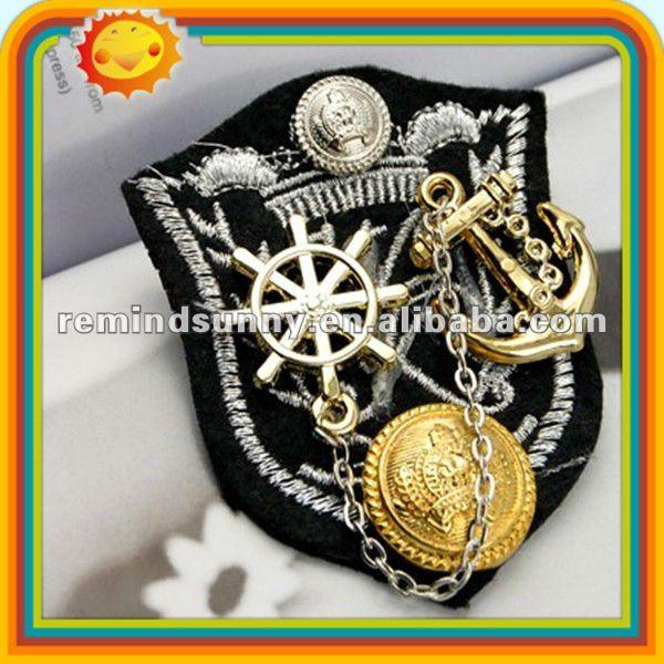 Promotional Decorative Metal Captain Badges