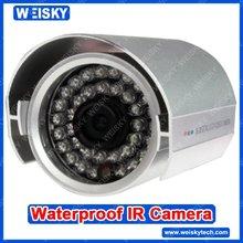 Color Waterproof IR Camera with Sharp CCD 600TVL
