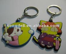 2012 Newly designed cartoon figure pvc keychain