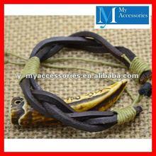 Narrow Leather Strap Braided Bracelet Jewelry Wholesale 2012
