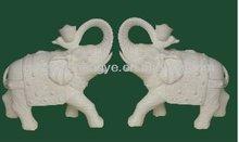 vivid hand-carving stone elephant sculpture