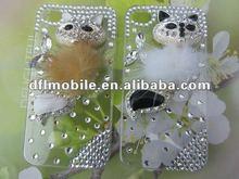 Cheap custom Bling rhinestone mobile phones case for Iphone4s w-01