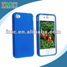 Royal Blue TPU Rubber Skin Case for iPhone 4/4S(IMC-TOIPH-0941)