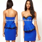 sweetheart neckline high fitted waist peplum bandeau sexy pictures of girls without dress