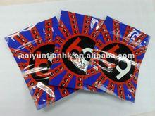 Number printed aluminum foil ziplock packaging potpourri