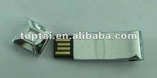 laser customized logo Fashionable metal with diamond usb 2.0 pen drive