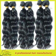 Original AAAA virgin brazilian human hair wet and wavy weave