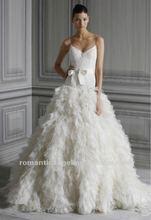 Latest Mermaid Tulle Layer Skirt Glamorous New Model 2012 Wedding Dress