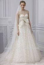 Latest See Through High Neck Cap Sleeve Wedding Dress Pattern 2012