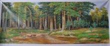Handmade Forest River Landscape Oil Painting