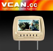 2012 Newest 9inch headrest dvd player for bmw with USD/SD/GAME/IR/FM transmitter (VCAN0146)