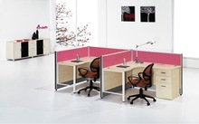 2012 new design glass office partion for 2 people