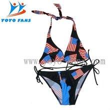 american flag bikinis with CE certificate